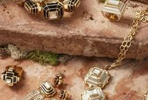 ISHARYA Hampi Jewelry Lookbook / The Hampi jewelry collection from Isharya is inspired by the ancient city of Hampi, in India. The designers recreated the steps using using resin fused into 18k gold plated settings using the French plique-a-jour enameling technique. The structures' arches inspired the floral base of motifs. Handcrafted by artisans with black or white translucent resin, mirrow and 18k gold plated brass. Check out the collection here:   http://www.isharya.com/hampi-designer-collection-jewelry-lookbook-by-isharya/