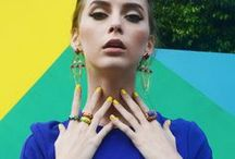 ISHARYA Fashion Ring Bands / Designer fashion ring bands by ISHARYA. Colorful stackable rings and mirror rings with a Hollywood and modern Indian jewelry vibe.