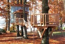 Kids' playhouses on trees / Have a look at our treehouses for the little ones!