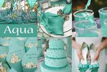 Teal, Turquoise and Aqua! Perfect for Prom or Wedding! / Beautiful accessories and ideas for your wedding day or prom. Visit us anytime at www.affordableelegancebridal.com for elegant, affordable accessories!