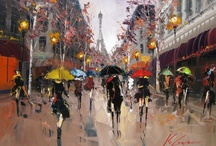 Paris mon amour / Il n'y a que deux endroits au monde où l'on puisse vivre heureux:  chez soi et à Paris. (There are only two places in the world where we can live happy:  at home and in Paris.)