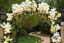Outdoor Weddings and Receptions / Outdoor wedding ceremony and reception ideas - decorations, cakes, tables. food, lighting and bridal accessories! Visit us anytime at www.affordableelegancebridal.com  - your online bridal boutique!