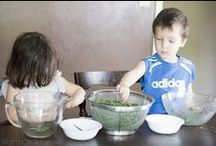 Kids in the Kitchen / Getting kids in the kitchen so they can learn to cook and about nourishing foods.