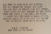 "J.R.R. Tolkien / ""Not all who wander are lost....."""