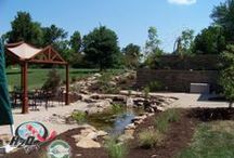 Pond Contractor-Installation, Repair & Maintenance Services for Central Kentucky (KY) / Imagine walking out of your back door into your own backyard paradise. The relaxing sounds of waterfalls  cascading from a stream, Koi fish gracefully gliding through the water, butterflies dancing among the landscaping, & birds singing in the nearby trees.  --We offer Backyard Pond Design, Installation, Repair, & Maintenance Services for Lexington, Richmond, Danville, Nicholasville, Versailles, Georgetown, Somerset & surrounding Central Kentucky communities.--Contact us @ (888) 297-6637
