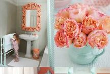 Peach & Seafoam - Favourite Colours  / by Renee | Bespoke by Renee