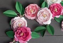 Paper Flowers / How to make paper flowers - Lots of craft ideas, inspiration and how to's for making gorgeous paper flowers from paper, card and tissue.  They look really pretty and unlike real flowers they will last forever!