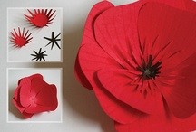 Paper Poppies / We are really proud that our paper mill makes the red and green paper that is used to make thousands of paper poppies every November for Remembrance Sunday.  We thought it would be fun to collect as many paper poppies as we could find!