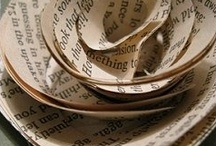 Upcycled books / Old books can be transformed into beautiful objects to decorate your home! Just be sure not to damage any books that are still in readable condition!