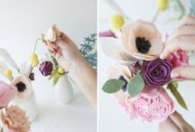 Handmade Flowers / Handmade flowers, bright, crafty, fun and colorful.