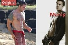 ALEX O'LOUGHLIN - FAKE PICTURES (my pet peeve) / Comparisons of original Alex O'Loughlin pictures with photoshopped ones. (This is NOT about fan art for me, but about changing bodies & body parts of people around)