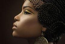 Ebony Beauty / Mulheres Negras. Composições. Makes.