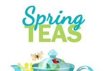 Spring Teas / Springtime means all the leaves are unfurling! Peep this board for all sorts of steamy vernal inspiration.  Tea and tea parties are perfect for Easter, Passover, Mother's Day, St. Patrick's Day, and other spring flings.