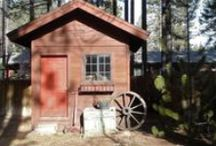 Wood Shed Designs and Ideas / Sophisticated wood storage shed. From a simple pole shed that looks like a small house with doors, windows, and even a front porch. Any design is possible.