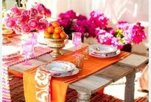 table settings / Pretty Settings a welcome feeling. / by Marianne de Swardt