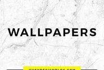 WALLPAPERS / wallpapers ideas | wallpaper inspiration | patterned walls | interior design wallpapers | decoration wallpaper |