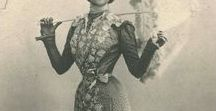 Dresses of late 19th century