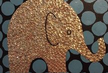 Teresa's Canvas Creations / My business. Sequin and glitter art