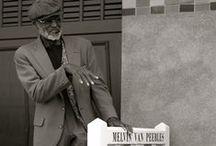 Actors on boardwalk Les Planches - Deauville / by deauville