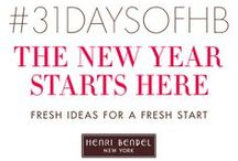 #31DAYSOFHB / Welcome to 2014 and #31daysofHB! Throughout January we'll be leaving little bits of inspiration for you every day for a fresh start to the new year. Join in and maybe we'll even be inspired by you!   Click here for today's tip: http://bit.ly/1hSCkFU  / by Henri Bendel