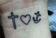 Tattoos / Ideas for my future tattoos :D First tattoo: cross, heart, anchor (right wrist) - Dec 4, 2013 / by Kaitlyn Van Der Ende