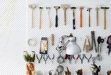 Studio Inspiration / Jeweler's Bench Ideas and Artist's Studio inspiration / by Lauren Goldberg