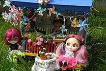 Gypsy Caravan Mary Mas M Blythe Miniature up from 2014 / Gypsy Gypsy Caravan Blythe miniatures dolls miniature world dollhouse boho style romantik  / by Mary Mas M