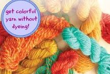 Handspun Yarn / Handspun and homemade. Create varies types of yarn for your next project.