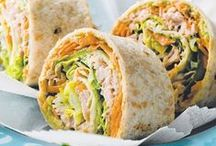 yummy, yummy wraps, sandwiches, tacos, etc. / by Crystal Stewart