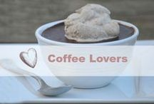 Coffee Lovers / Anything goes with coffee! Coffee drinks, coffee desserts, coffee books, coffee clothes.