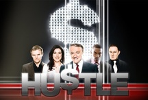 """HU$TLE / Hustle is a British television drama series. The series follows a group of con artists who specialise in """"long cons"""" – extended deceptions which require greater commitment, but which return a higher reward than simple confidence tricks"""