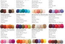 Knitting Color Combinations / by MaryAnnsDesigns Knitting Patterns
