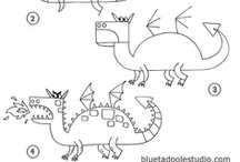 How to draw / My kids love to draw! Here's some great HOW to DRAW instructions to create different animals, people, etc that are on their level, can inspire them or teach them new drawing skills.  / by Brassy Apple