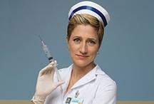 "Nurse Jackie / Nurse Jackie is an American series starring Edie Falco as the title character Jackie Peyton, an emergency room nurse at ""All Saints' Hospital"" in New York City"
