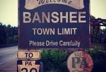 Banshee / Banshee is an American action television series created by Jonathan Tropper and David Schickler originally appearing on the Cinemax network beginning on January 11, 2013. Set in the small town of Banshee in Pennsylvania Amish country, the series' main character is an enigmatic ex-con (Antony Starr), who assumes the identity of Lucas Hood, the town's murdered sheriff