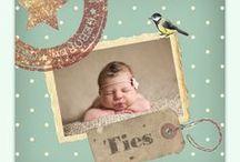 Vintage geboortekaartjes