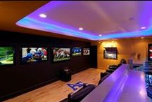 Super Bowl Hot Spots / From a multi-display personal sports bar to a fully outfitted RV, Control4® automation solutions deliver simple control for the ultimate viewing experience. #smarthome #automation #SuperBowl