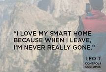 Homeowners Love #SmartHomes / We believe life is better when everything works together. And hearing first-hand from our #happycustomers about how their personalized #homeautomation and control solutions benefit their lives, and the lives of their families, gives us the warm fuzzies. So we thought we'd start a #quoteboard to showcase some of their great feedback. We'd love to hear from you as well -- just tag us at #Control4!