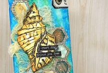 Tim Holtz 12 Tags of 2016 / Mixed Media Tags based on Tim Holtz 12 Tags of 2016.