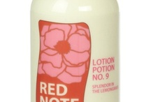 Lotion Potion No. 9 magic! / Lotion Potion No. 9 in 20 luscious fragrances. Natural vitamin rich apricot kernel, sunflower, grape seed oils quench your skin with its daily drink of moisture. Nutrients and antioxidants in illipe and cocoa butters offer deep hydration to nourish and protect your skin from losing moisture.  The perfect all-over daily body moisturizer. ($32.00 - 8 oz) http://rednotebotanica.com/product-category/lotion/