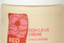 Bonjour ooh la la creme - Whipped Souffle Creme! / Ooh la la Creme in 20 luscious fragrances.  It's like applying heavy whipping cream with an ooh la la feel.  This easily absorbed, vitamin and antioxidant rich, naturally yummy scented mango butter creme is an overall body creme, or perfect for use on areas that might need a little something more emollient than a lotion.  Your skin will love you! ($40.00 - 8 oz) http://rednotebotanica.com/product-category/creme/