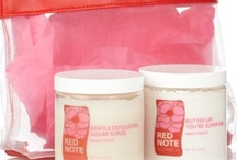 BFF Gift Sets-  Love your skin! / Gentle Exfoliating Sugar Scrub and Butter Up! You're Super Fab... in a fun zipper pouch and soup spoon for your scrub.  Skincare made super easy - Grab your pouch and into the tub or shower for your softest, healthiest skin!  ($68.00 - 8 oz sugar scrub and 8 oz body butter, Can mix & match with different fragrances for sugar scrub and body butter)