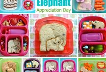"""BENTO holiday weird / Funny """"holidays"""" : April fools!!!!! , """"Elephant appreciation day!"""" ,Dr. Suess day, """"May the 4th be with you!"""" """"Peanut butter day!"""" and my fav ->""""Talk like a pirate day!"""" Grrrrrr! / by Kathryne Brody"""