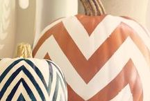 White Pumpkins and Orange Ghosts / A little twist on the traditional colors of the pumpkin, perfect for any house this season.