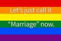 Marriage Equality / Efforts to give same-sex couples the federal right to wed and acquire the same federal rights that heterosexuals couples have had through the years.