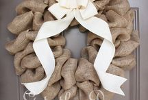 Burlap Wreaths / I love making these and would love to try and sell some.