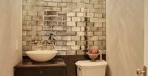 Home: Bathrooms / Don't you just love the home decor and interior design in these bathrooms?!