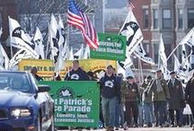 St. Patrick's Exclusive Parade / For Years, the Traditional (Southie) St. Patrick's Parade has excluded LGBT people. In 2014, they allowed the OUTVETS to march, then in 2015, mistakenly taking Boston Pride's application for that of another organization, they allowed Boston Pride to march.