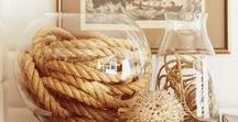 Rope in Home & Interior Design / Ideas, tips and inspiration for incorporating rope and rope hardware into your own home. Interior designers and decorators love the rustic look and tactile nature that rope brings.  Click through to our site to see our huge array of traditional and high-tech ropes, bronze and chrome hardware and supplies. Everything on this board can be built with supplies that we carry in our Massachusetts warehouse.  DIY too much trouble? Our design team is ready to help bring your vision to life.