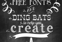 free downloads / Free fonts, labels, charts and art